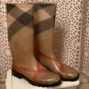 Burberry Mid Calf Rain Boots